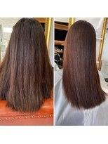 美髪矯正 カラー毛