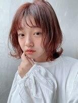 ノットバイベル 大宮(knot by belle)あまカジショート♪ピンクミルクティーカラー