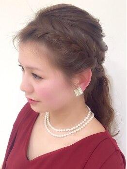 ルシードスタイルレクラ(L'UCIDO STYLE L'eclat)の写真/【駅30秒・P有】『ヘアセット¥3456』結婚式のヘアや着物の着付けもOK♪大切な日はより華やかに可愛く!