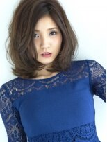 サラヘアー(sarah hair)【sarah 銀座】ミディアム+パーマ=大人かわいい