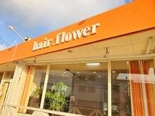 hair. flower