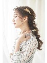 ヘアメイクサロンシャルメ(Hair Make Salon CHARMER)ラフな編みおろしヘアセット