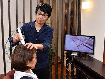 美容室 サンローズの写真/頭皮環境を整えて抜け毛を予防するエイジングケアスパが魅力☆頭皮のかゆみや臭い、フケなどにもオススメ☆