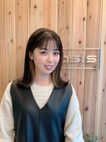 【oasis小椋】黒髪 × ブロンド インナーカラー ロブ