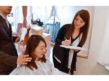 松本平太郎美容室 川越店の雰囲気(200ズームのマイクロスコープで髪質や頭皮の状態をチェック!)