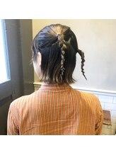 フェン ヘアーアイス(Fen.hair ici)ヘアアレンジ グラデーションカラー ベージュ