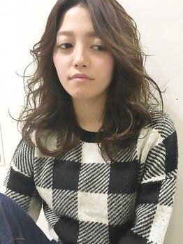 ビール 渡辺通店(BEER)の写真/髪に優しい☆ふんわりやわらかな質感が人気の【BEER】のデジタルパーマ♪