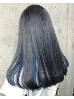 サロンドミルク 原宿(salon de MiLK)インナーブルー×表面透けグレージュ