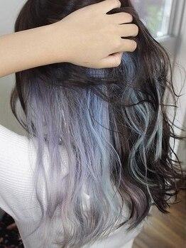 ヘアサロン ブランチ(Hair salon Branch)の写真/【上乃裏】インナーカラー/バレイヤージュ/韓国ヘアはお任せ!ケアブリーチで髪にやさしくカラーを楽しもう!