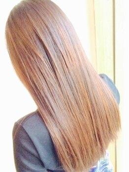 ヘアリゾート ちゅら(Hair Resort)の写真/新メニュー☆通常なら強い薬剤を使用し施術する矯正を弱く優しい薬剤でもしっかりストレートが叶います☆