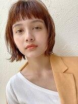 アンアミ オモテサンドウ(Un ami omotesando)【Un ami】《増永剛大》 人気の外ハネミニボブ、オレンジカラー