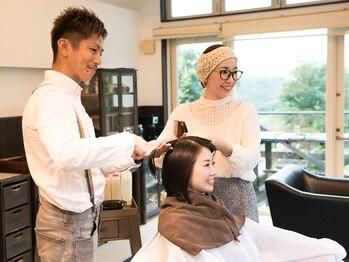 ロッソ 逗子銀座店(ROSSO Zushi-Ginza)の写真/本格『オーガニックサロン』ならではの髪、地肌に優しい天然由来成分カラーが大人気!
