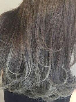 ファセット ヘアー(FACET HAIR)の写真/大人気《バレイヤージュカラー》★思わず触れたくなる艶・透明感が◎あなただけのデザインに仕上がります!