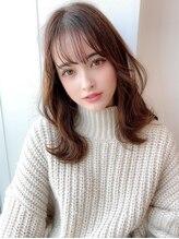 アグ ヘアー フォンテ 大泉学園店(Agu hair fonte)《Agu hair》長めバング×重軽ウェーブロング