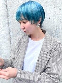 ガーデンヘアー(Garden hair)の写真/旬なブリーチカラーを得意とするスタイリスト多数在籍。こだわり抜いたデザインをご体感下さい☆