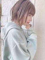 【東 純平】柔らかくびれ小顔ボブ+ラベンダーベージュ