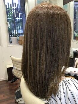 美容室 ペルル(Perle)の写真/《美髪を求めるならPerle》シャキンとし過ぎないナチュラルなストレートが叶う☆思わず触れたくなる髪へ♪