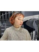 イトシテ【 オレンジ × オン眉ボブアレンジ 】浅野美紀
