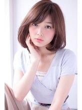 ヘアーアンドファッションシオミエイチ (hair&fashion shiomi H)shiomi H ノームコアミディアムマッシュボブ【フリンジバング】