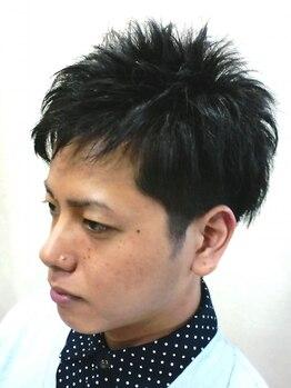 バーバーリンクヘアー(Bar Ber Link Hair)の写真/毎朝のセットも簡単◎ハイキャリアスタイリストによる巧みなカット技術でONでもOFFでもキマるスタイルに☆