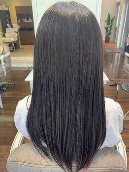 ヘアサロン ブランチ(Hair salon Branch)の写真/【上乃裏】ナチュラルな地毛のようなストレートヘアに☆触り心地に驚くサラサラヘアを手に入れよう♪