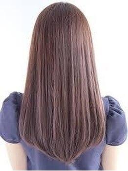 ヘアーサロン アオ(Hair Salon Ao)の写真/クセやダメージがある方でも,生まれつきの自然なストレートの様な女性らしい柔らかいシルエットが叶う♪