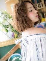 ■カーキベージュアンニュイルーズヘア12-4★川口20代30代40代