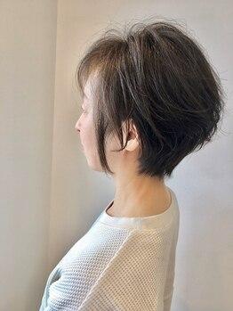 グラムヘアー(GLAM HAIR)の写真/バランスが重要なショートも豊富な知識と骨格・お悩みに合わせたカット技術で再現しやすい理想のスタイルへ