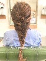 ヘアーガーデン シュシュ(hair garden chou chou)ヘアアレンジ☆エビ編みこみ