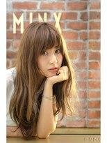 ミンクス ハラジュク(MINX harajuku)ハイトーンニュアンスロング×ナチュラルパーマ×シースルー前髪