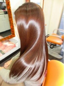 ヘアアンドメイク エンジェル 川越(HAIR&MAKE Angel)の写真/芸能人にもファンが多い≪M3Dカラー!≫髪に水分補給して染めるから、回数を重ねても傷みにくい☆
