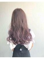 ヘアメイク オブジェ(hair make objet)アッシュパープルグラデーション