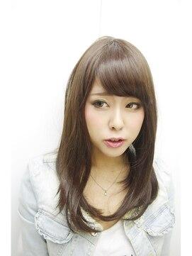 シンヤヘアーズ(SHINYA HAIRS)SHINYA original sky blue ash straight style