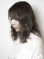 フレイムスヘアデザイン(FRAMES hair design)ミディアムレイヤー×波打ちウェーブ