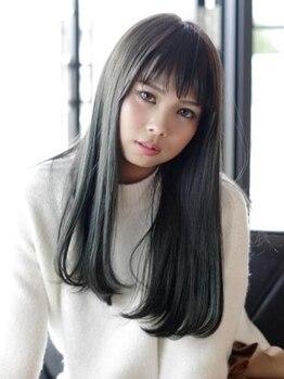 ヘアーディーシーオー(Hair Dco)の写真/【沖縄市】思わず触りたくなる艶やかな質感★ドライだけでまとまるしなやかなストレートに!