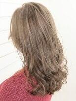 オーブ ヘアー ニコラ 大橋店(AUBE HAIR nicola)【AUBE HAIR】ライトクリアベージュ_フリンジセミロング