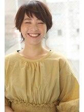 ジー(G)笑顔ウルフショート!首長効果で小顔もいただきます!