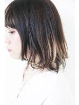 バコ(Baco.)黒髪ボブ × インナーカラー (2) 【Baco.】