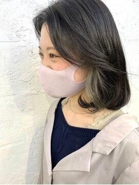 ヒート バイ アンカットラウンジ 渋谷(HEAT by UNCUT&LOUNGE)アッシュインナーカラー/ダブルカラー/ケアブリーチ
