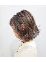 エイム ヘアメイク 横川店(eim HAIR MAKE)切りっぱなしボブ×エアタッチバレイヤージュ