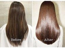 繰り返すたびにツヤがよみがえる!髪の状態をよりよく、扱いやすい、美しいヘアスタイル♪【髪質改善】