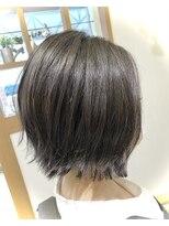 リリー ヘアーデザイン(Lilly hair design)ぱつっとボブ×【透明感グレージュ】