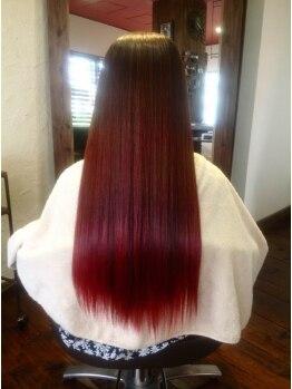オラプラノ(olaplano)の写真/【読谷】素髪の美しさを守るダメージレス施術☆思わず触りたくなる、手触り滑らかな潤いストレートに♪