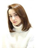 ギフト ヘアー サロン(gift hair salon)潤うつやつやののセミロングストレート(熊本・通町筋・上通り)