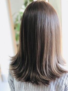 キートス ヘアーデザインプラス(kiitos hair design +)の写真/パサつきもケアできる新感覚のグレイカラー(白髪染め)でカラーを繰り返す方にもオススメ♪