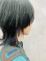 サン 渋谷(SUN)【SUN】*YORK*くすみカーキモスグリーンのマッシュウルフ