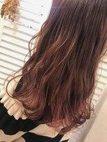 ヘアーアンドメイク ルシア 梅田茶屋町店(hair and make lucia)さり気なくインナーカラーを☆くすみピンク