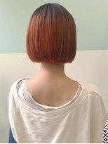 マテカ ヘアー(mateca hair)【mateca】オレンジカラー×ミニボブ