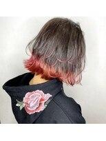 ソース 梅田(SOURCE)【SOURCE】ベリーピンク裾カラー