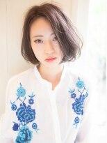 ガレット なんばウォーク(GALETTE)エレガンスシースルーバンク☆とろみ艶髪ナチュラルボブ